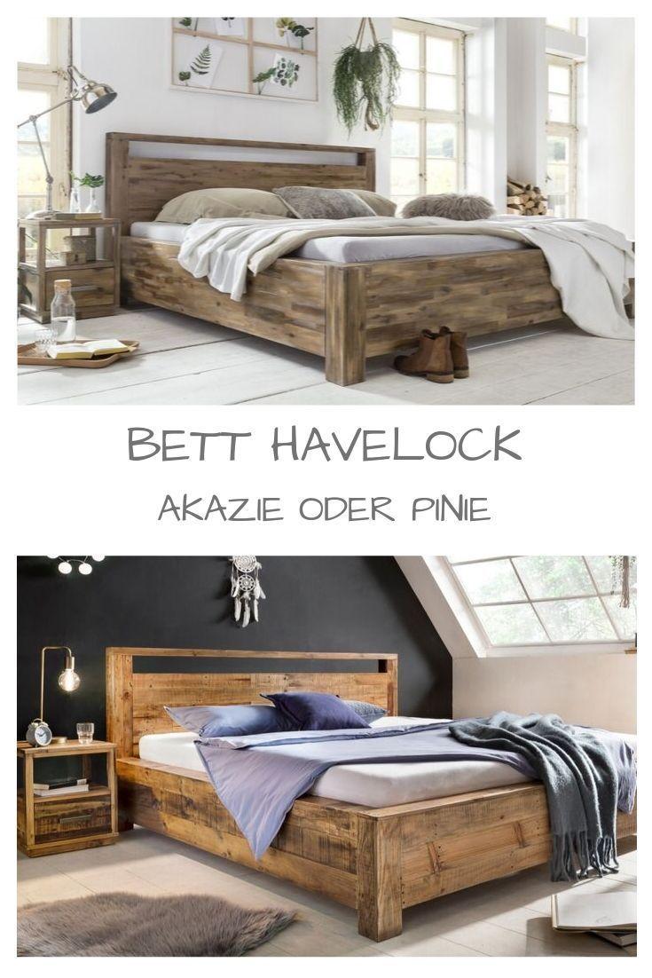 Woodkings Holzbett Havelock Betten Kaufen Bett Balken Altholz