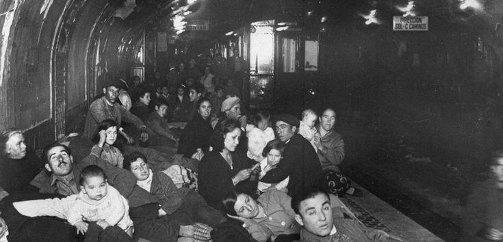 El metro de Madrid usado como refugio durante la  odiosa guerra civil