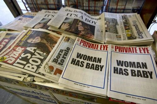 """Private Eye hits global headlines for coverage of #RoyalBaby """"Woman has baby. Inside, some other stuff."""""""