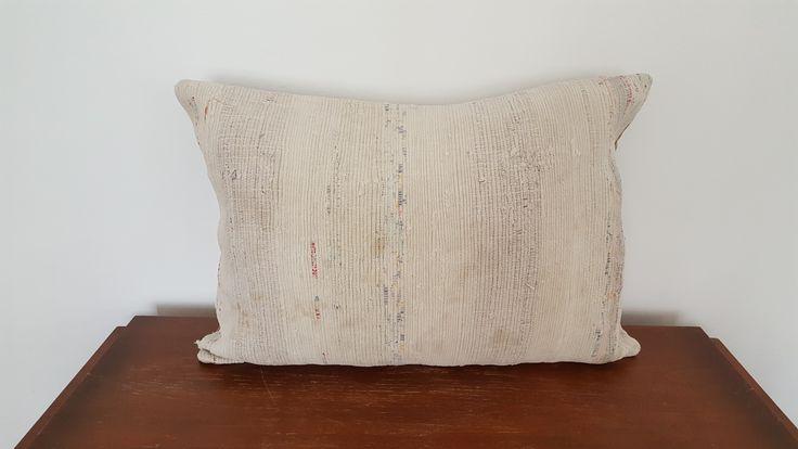 16x24 Beige Pillow Case Cotton Cushion