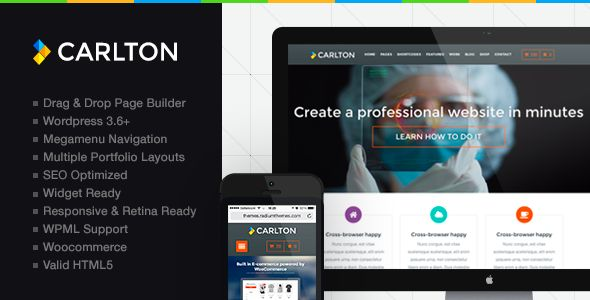 Carlton - A Powerful Multipurpose Wordpress Theme   http://themeforest.net/item/carlton-a-powerful-multipurpose-wordpress-theme/6443030?ref=damiamio       Carlton is a responsive HTML5 retina enabled Wordpress Theme design for creative or business use. Carlton is modern clean and well structured and comes with an extensive admin panel with various options that allow you to easily modify stylings, colors, fonts, layouts and other settings for the theme.  	 Carlton has been designed not only…