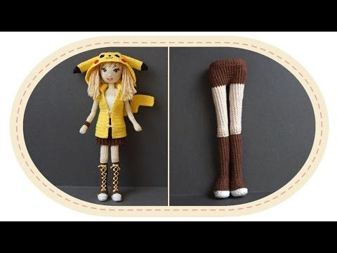 Девушка Пикачу крючком, часть 3 (Тело, часть 1). Crochet Pikachu girl, part 3 (body, part 1). - YouTube