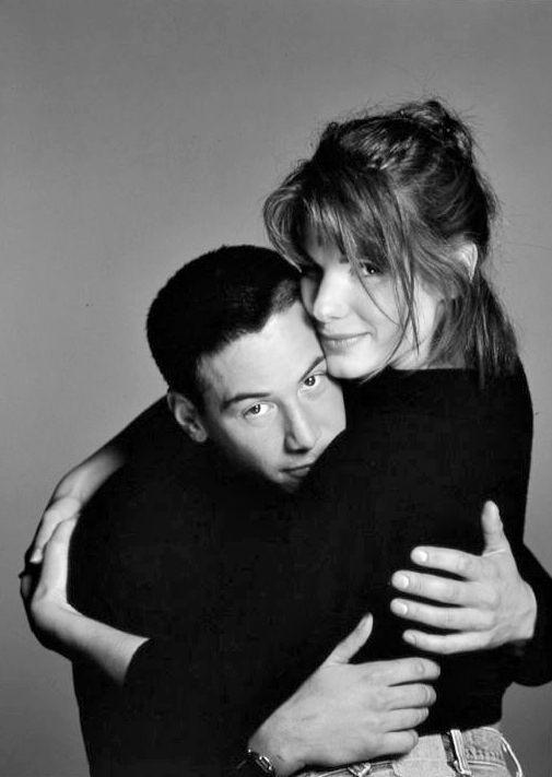 Keanu Reeves and Sandra Bullock in 1994.