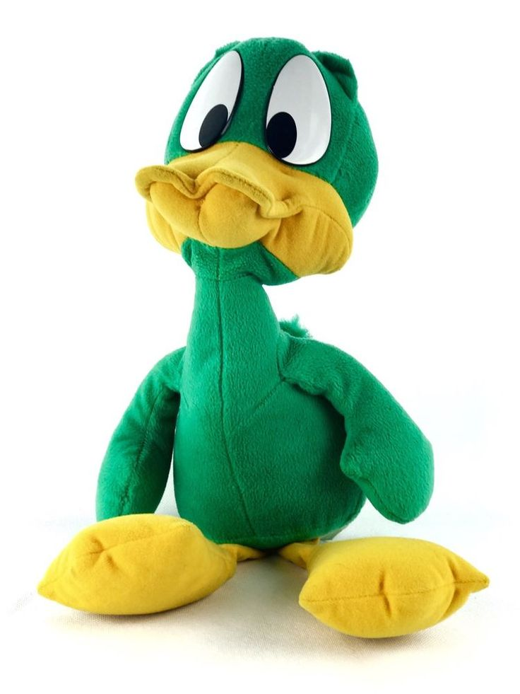 """Applause plucky Duck Vintage 1990 warner bros soft teddy toy plush 20"""" TINY TOON"""