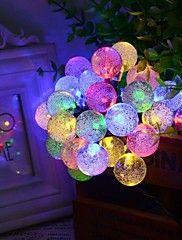 6.5m 30led bubble vorm zonne lichtslingers fijne bruiloft lichten Kerst decoratie verlichting – EUR € 25.92