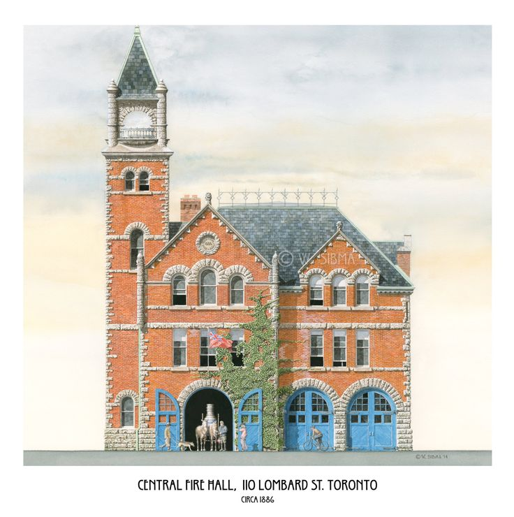 Central Fire Hall Lombard Street Toronto by WaltsTSquare on Etsy