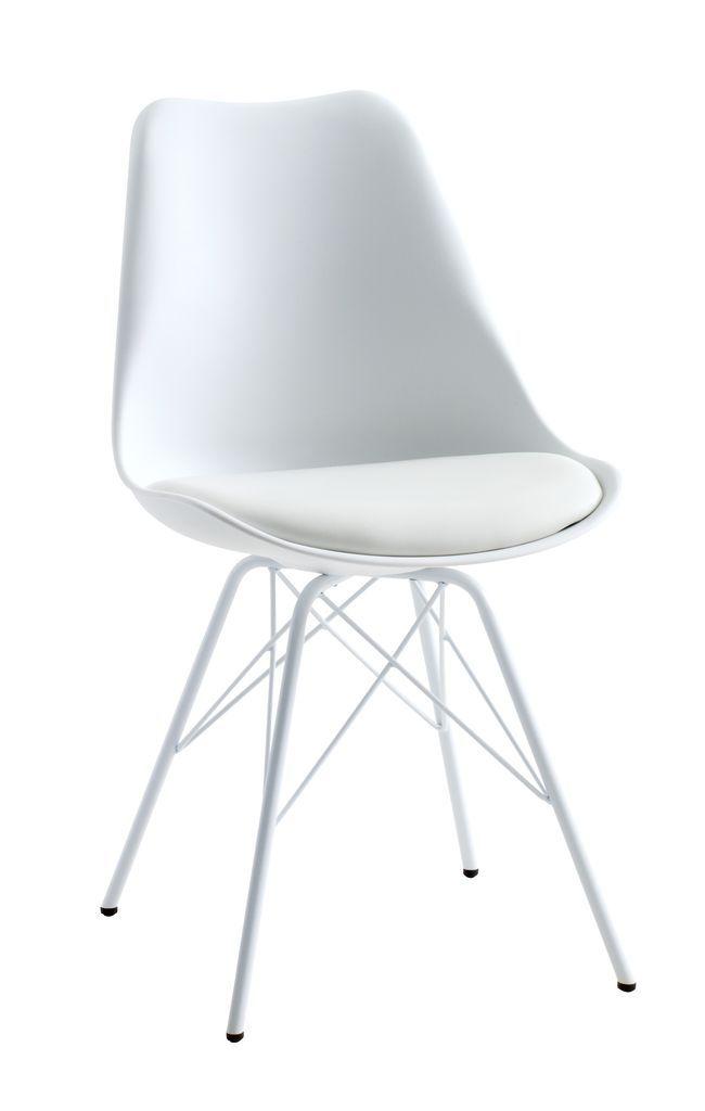 Jídelní židle KLARUP bílá koženka | JYSK