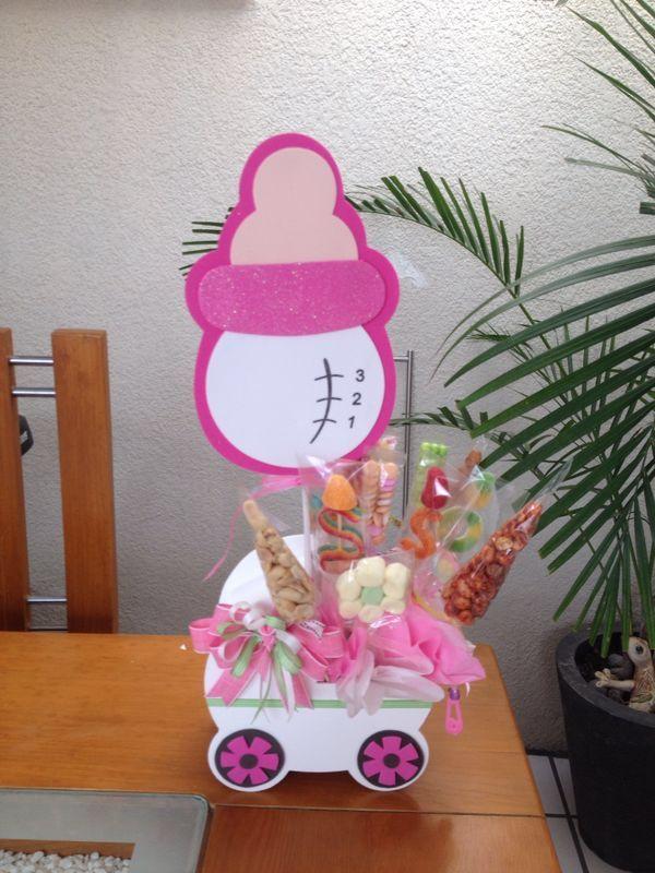 Centro de mesa para baby shower niña