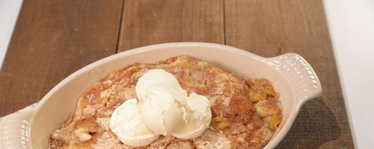 Mom's Peach Cobbler - want to try this recipe from the Chew by Martina McBride.  Looks delicious!