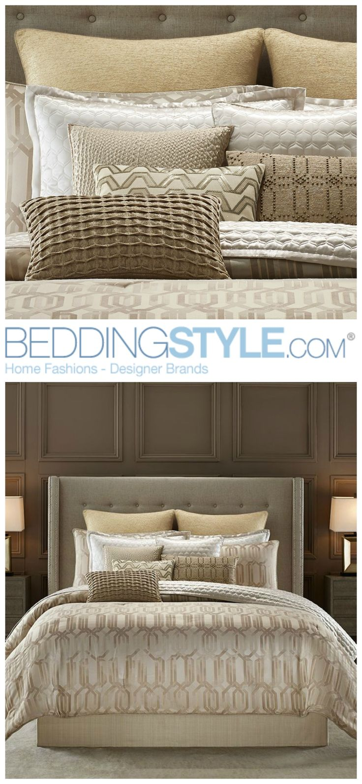 candice olson interplay bedding beddingstyle bed gold bedroom candiceolson hgtv