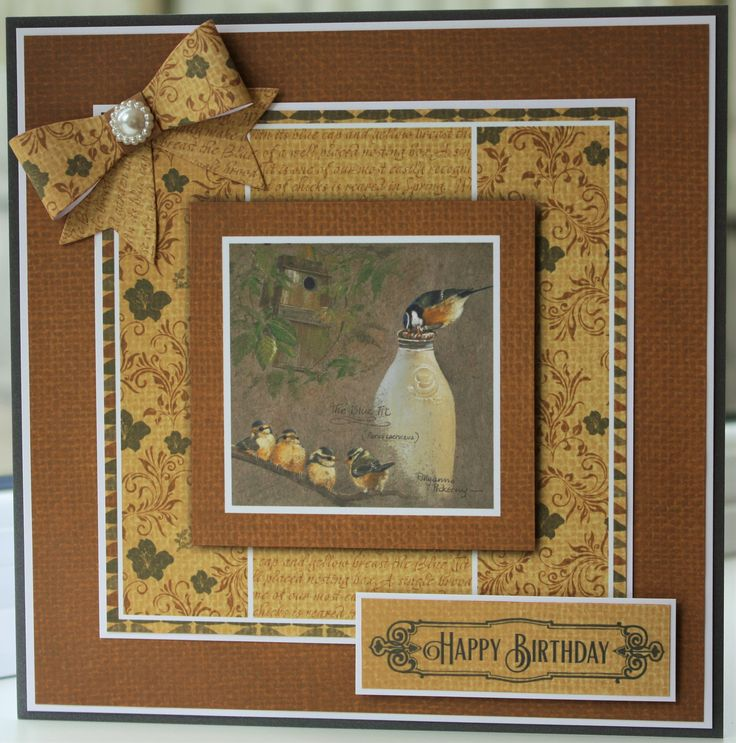 Birthday card made for my Mum from my Dad. It's 8x8 and made from Pollyanna…