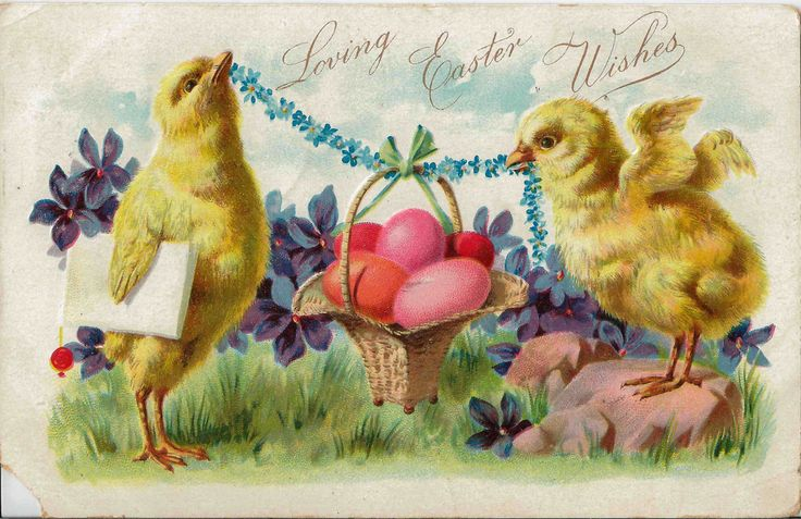 Antique 1907 Loving Easter Wishes Postcard Embossed and Vibrant Color by Raphael Tuck & Sons Publisher to Their Majesties The King and Queen by StructureandSpice on Etsy