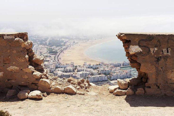 Kasbah Agadir Oufellan 236 metrin korkeudessa olevalta linnoitukselta aukeaa huikea näköala merelle ja yli koko #Agadirin. #Morocco #Aurinkomatkat