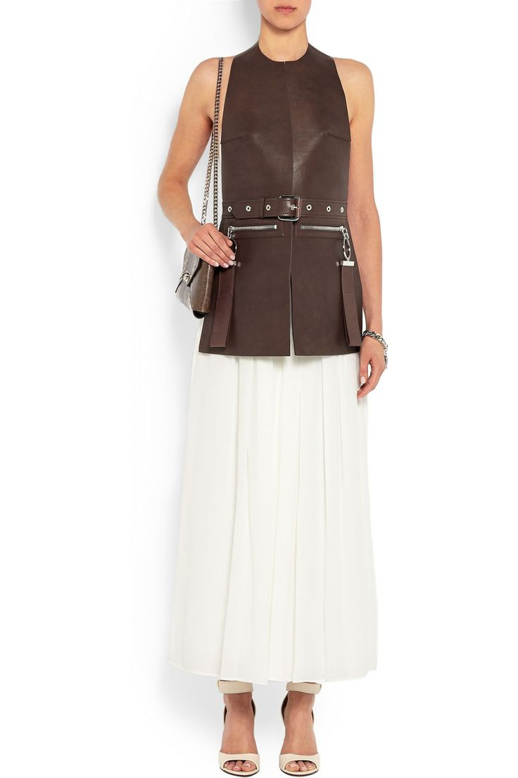Vest in black leather | GIVENCHY | Sale up to 70% off | THE OUTNET