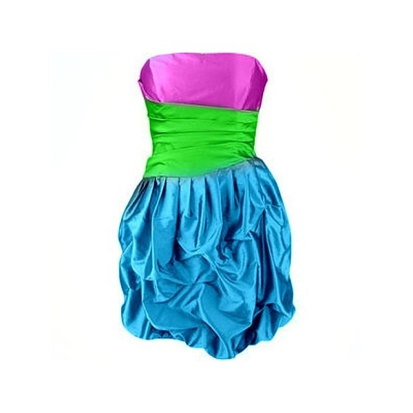 Neon Party Dress found on Polyvore