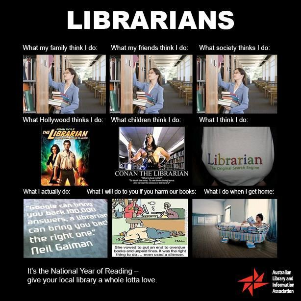 Librarians don't read books all day! :-)