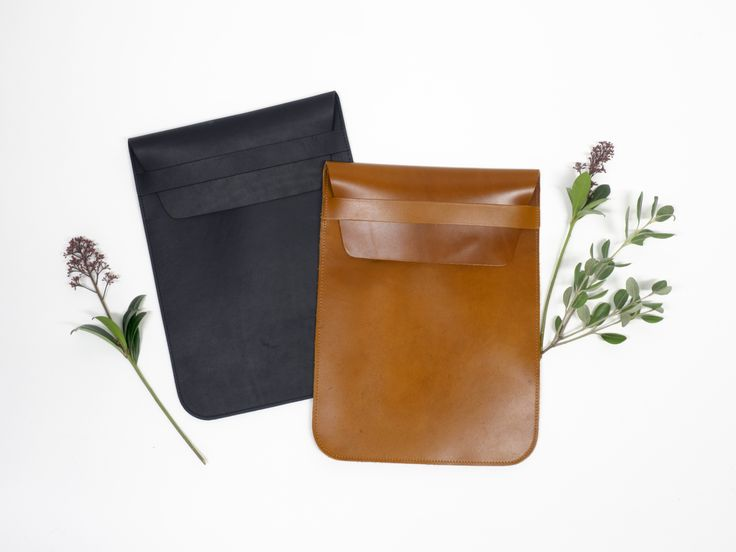 Leather laptop case by COSTO
