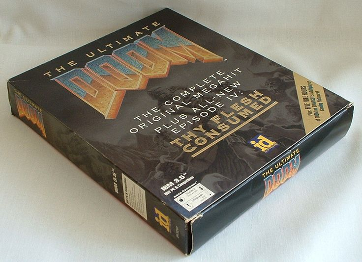 Ultimate Doom PC Game 1995 Big Box 3 5 Floppies Poster 742725103337 | eBay