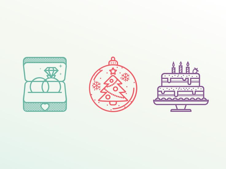 Holiday Icons by Dasha