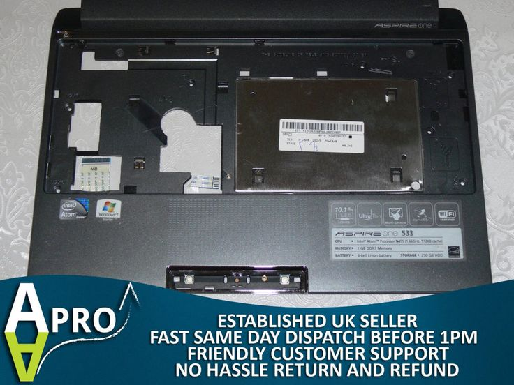 ACER ASPIRE ONE 533 PALMREST WITH TOUCHPAD AP0EB000J00 - UK SELLER #HP