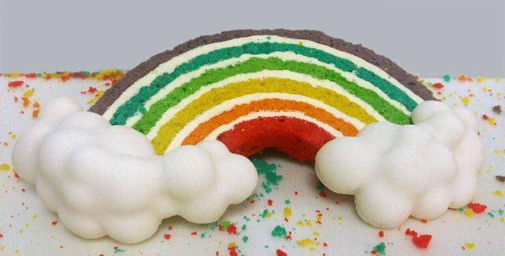 Κέικ Rainbow με στέβια | ION Sweets