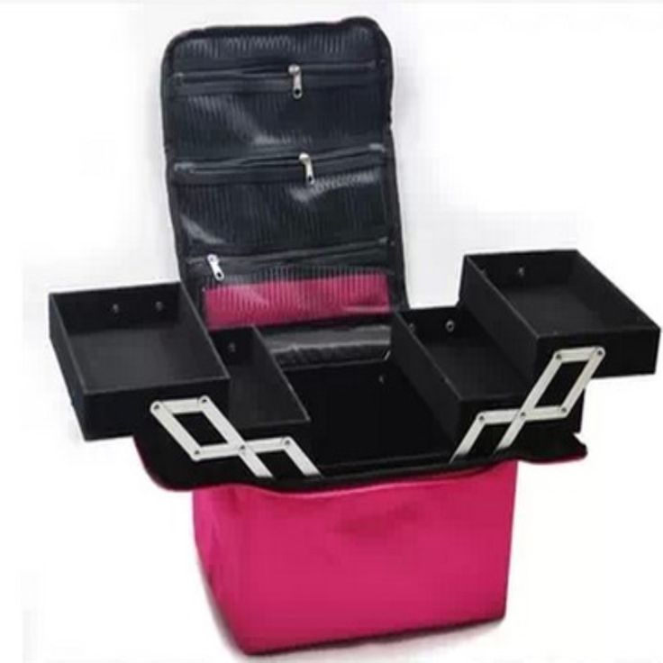 39.15$  Watch more here - Waterproof cloth Cosmetic bag Professional makeup /  large capacity double box shoulder dressing cosmetics makeup box   #buyonline