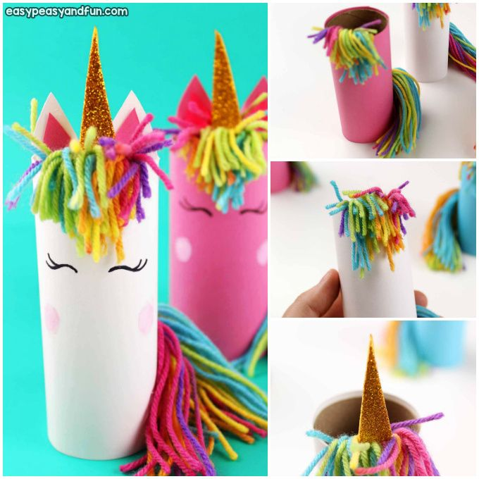 Unicorn Toilet Paper Roll Craft Crafts Spring Crafts For Kids