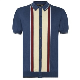Jesse Knitted Polo Shirt - Mens Polo Shirts - Merc Clothing