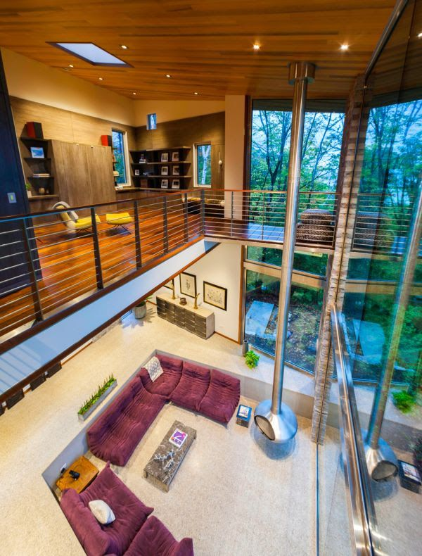 Sustainable Michigan house combines rustic and modern elements