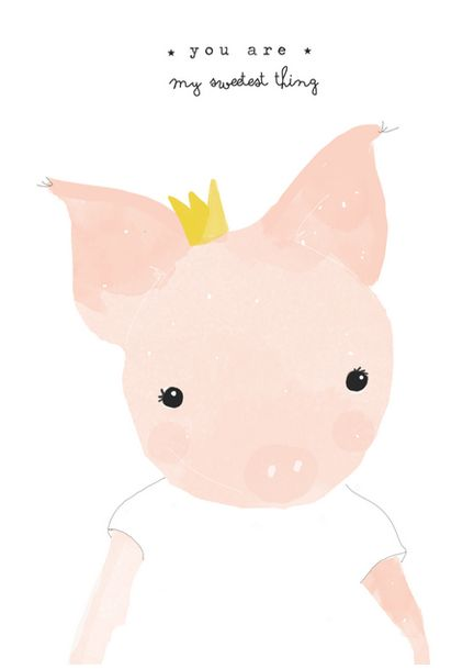Piglet via catita Illustrations . Click on the image to see more!