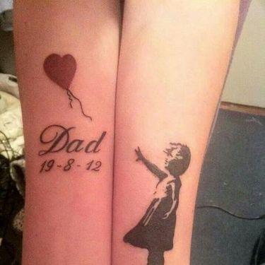 Dad Memorial Tattoo Idea