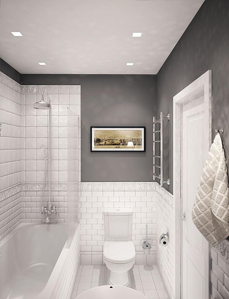 Дизайн ванной комнаты. #inscale #inscalestudio #bathroom #detail #classic #interiordesign #closet #toilet #starck #designstudio #interior #design #decor #luxuryinterior #luxury / дизайн интерьера / студия интерьера / интерьер квартиры / студия интерьера СПб / дизайнер интерьера Петербург / красивые квартиры / плитка кабанчик