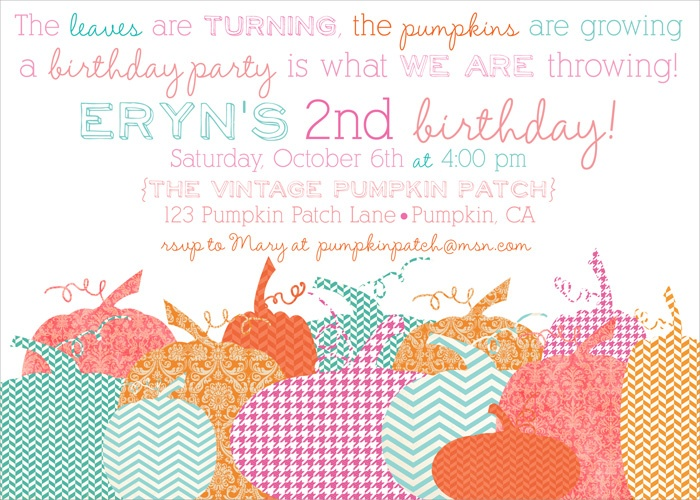 halloween party, fall party invites, fall birthday invites, pumpkin party invites, pumkin invitations via party box design