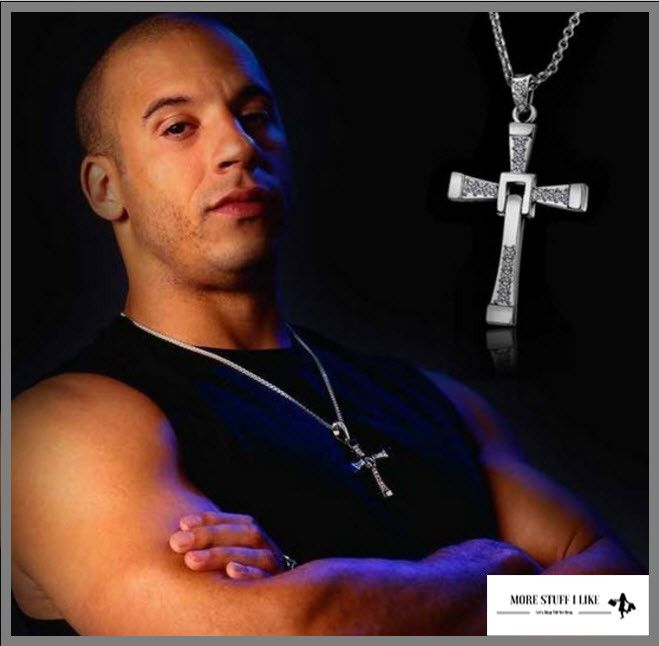 """"""" FREE SHIPPING """" Fast and Furious 7 Necklace Fine Jewelry Cross Necklace with Pendant for Men"""