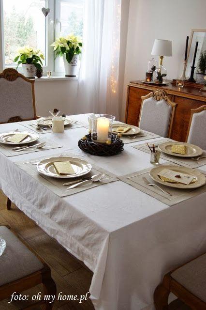 Świąteczne dekoracje stołu - część 1 - złoto