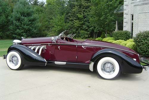 FilmCars :1935 Auburn 851 Supercharged Eight Dual-Ratio Vintage Automobiles for Motion Pictures and Special Events