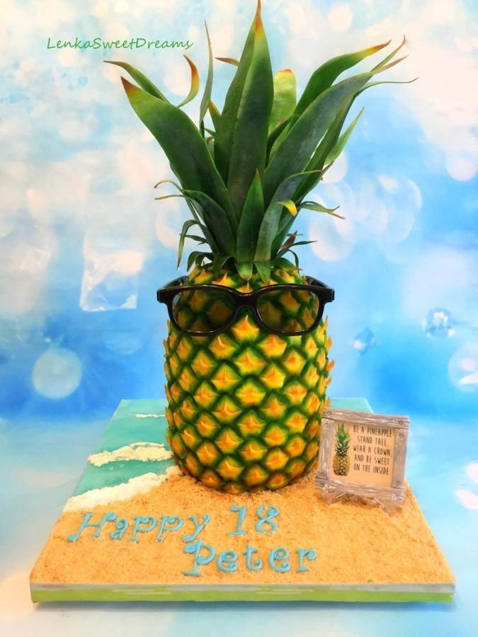 Pineapple Birthday Cakes Pictures
