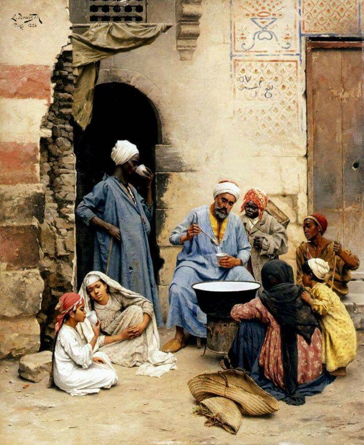 Le Sahleb vendeur, Le Caire Ludwig Deutsch (Vienna, 1855 - Paris, 1935)  Austrian painter
