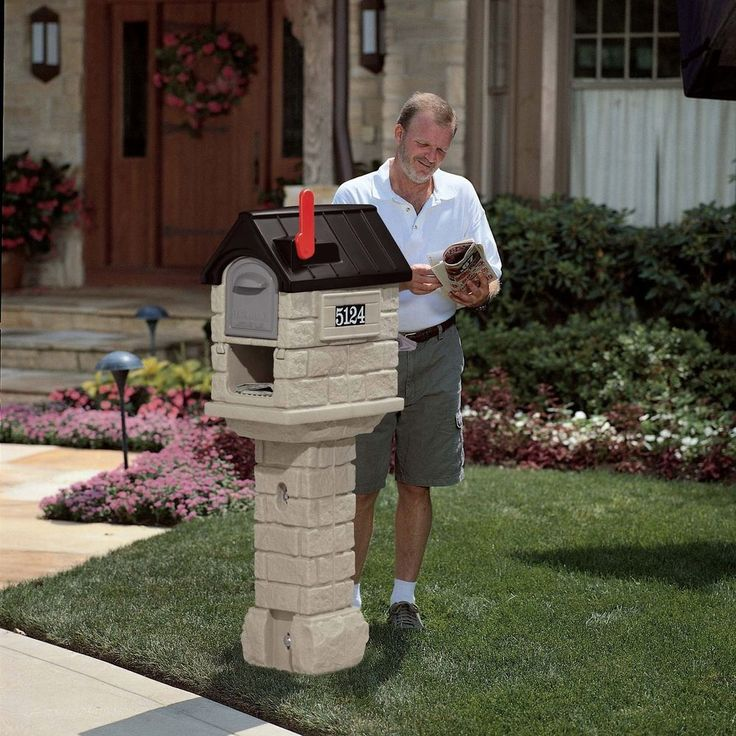 Large Rural Mailbox Post Pedestal Mail Box Door Weather Resistant Heavy Duty #Step2Mailbox