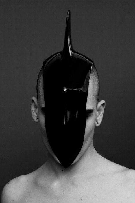 avant-garde fashion, unicorn, futuristic style, strange, future fashion, art fashion, mask by FuturisticNews.com