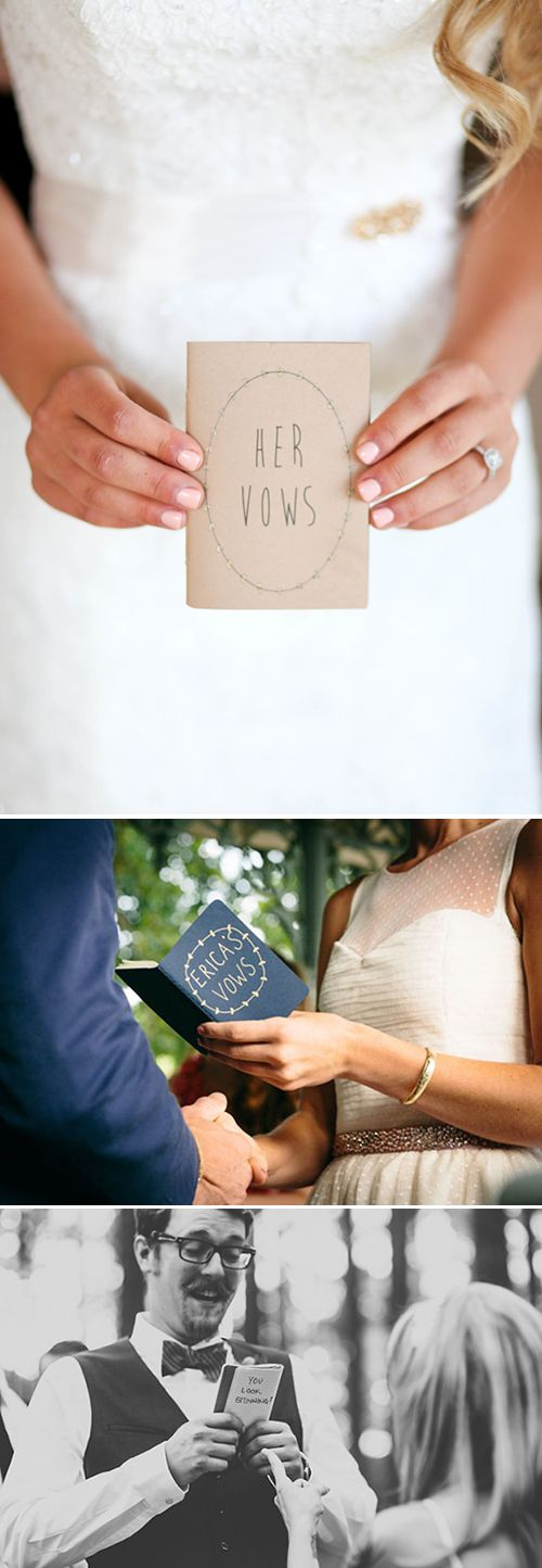 Personalized wedding vow notebooks you can keep forever! | Brides.com