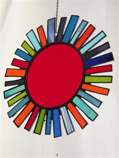 Multicolor windchime suncatcher