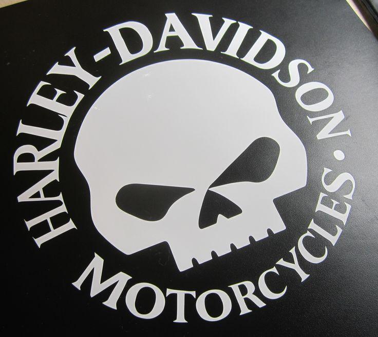 Large Vinyl Harley-Davidson yeti decals | Harley Davidson decal. Top quality US made biker sticker with HD Skull ...