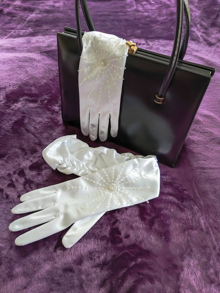 Prom gloves, Wedding gloves, bridal gloves, long white gloves, elbow length, rushed gloves, beaded gloves, burlesque gloves, rockabilly. by thevintagemagpie01 on Etsy