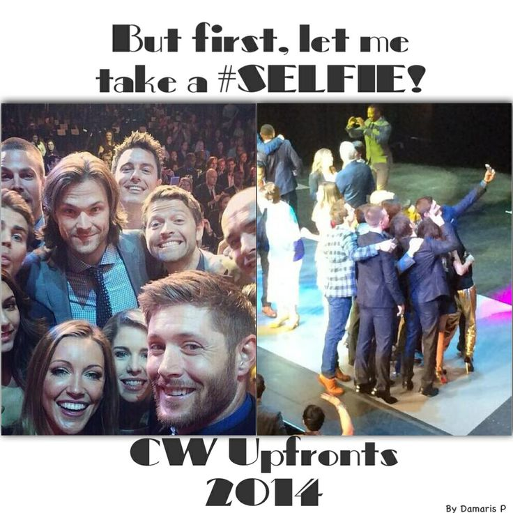 CW Upfronts 2014 #Selfie edit! #betterthantheellenselfie