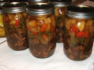 Canning Granny: Canning sweet and sour chicken. Open, heat, serve over rice....easy!