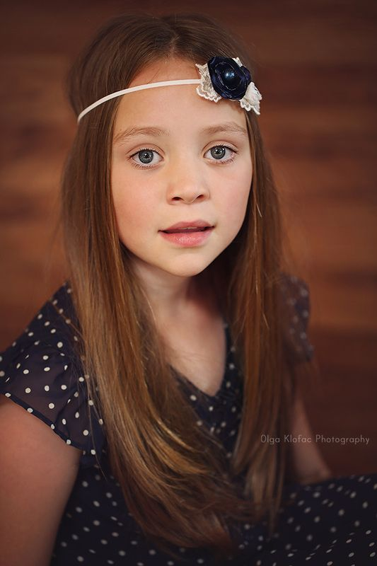 9-year-old Girl With Long Hair, Unique Fine Art Child