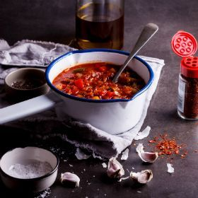 Spicy chakalaka - The perfect braai accompaniment. #recipe