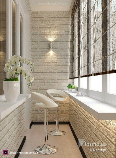 Шоколадно-молочный микс, Ndesign, Лоджия/Балкон, Дизайн интерьеров Formo.ua