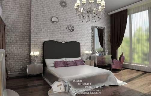 Лофт и арт-деко в интерьере эклектичной спальни http://www.decoplus.ru/portfolio